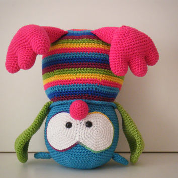 Flora, the owl - crochet owl - stuffed toy - Stip en haak