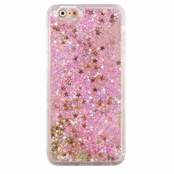 Holographic Stars Glitter iPhone Case
