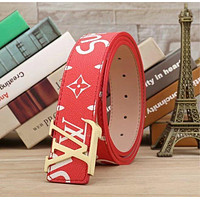 LV Supreme Woman Fashion Smooth Buckle Belt Leather Belt H-A-GFPDPF Tagre™