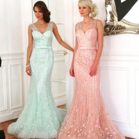 Wholesale latest dress designs heavy beaded sleeveless mermaid style prom gown with low back - Alibaba.com