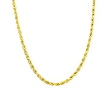 Gold Chain Necklace 24K Gold Overlay , 30x Thicker Than Plated, Tarnish Resistant 6 MM All Sizes Gold Pendant Necklace, Men & Wo