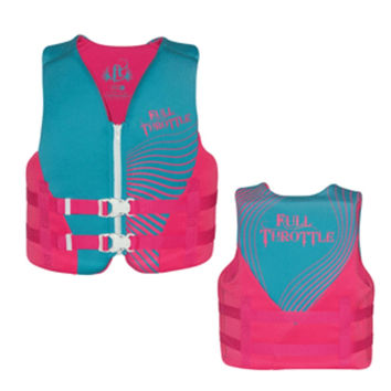 Full Throttle Rapid-Dry Life Vest - Youth 50-90lbs - Blue/Pink