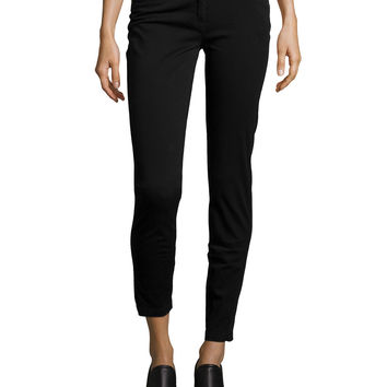 Runway Mid-Rise Skinny Trousers, Black, Size: