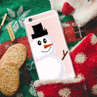 WaterColor Snowman iphone case