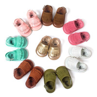 Baby Moccasins Soft Bottom Fringe Candy Color Girls Toddler Shoes Baby Slippers Boys prewalkers