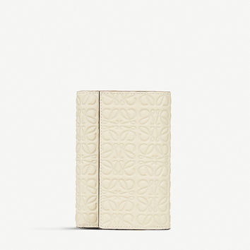 LOEWE Embossed leather small wallet