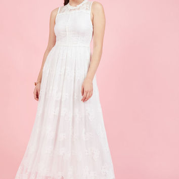 Effortlessly Special Maxi Dress in White