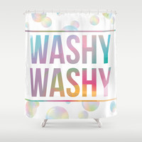 BATHROOM SERIES - Washy Washy! Shower Curtain by Noonday Design | Society6