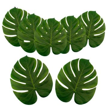 Silk Artificial Tropical Palm Leaves Party Decoration 24 pcs