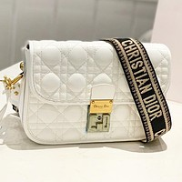Dior New fashion leather shoulder bag crossbody bag White