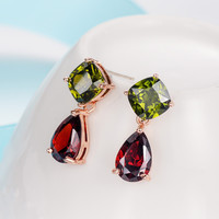 Multi-color Crystal Fashion Earrings [11597565263]