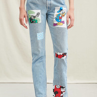 Urban Renewal Recycled Disney Patch Jean   Urban Outfitters