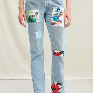 Urban Renewal Recycled Disney Patch Jean | Urban Outfitters