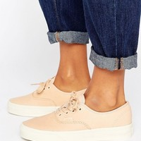 Vans Authentic Dx Unisex Sneakers In Neutral Leather at asos.com