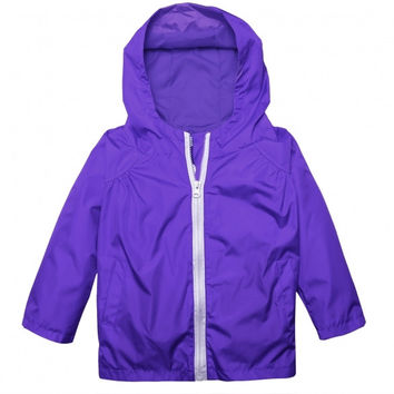 Girl Baby Kid Waterproof Hooded Coat Jacket Outwear Raincoat
