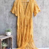 as you wish embroidered lace maxi dress (women) - more colors