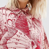 Weekday Horoscope Print Oversize Shirt at asos.com