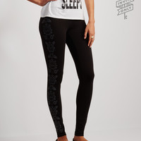 Invite Only Floral Accent Leggings