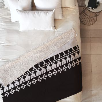 Viviana Gonzalez Black and white collection 04 Fleece Throw Blanket