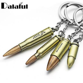 DCCKL6D Four Size Bronze Gun Bullet Key Chains Rings Holder Vintag Creative Gift Bag Pendant Keyrings KeyChains For Car K295
