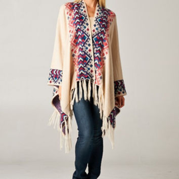Cape Henry Poncho Sweater