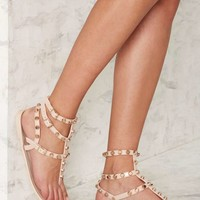 Nasty Gal So Jelly Gladiator Sandal - Nude