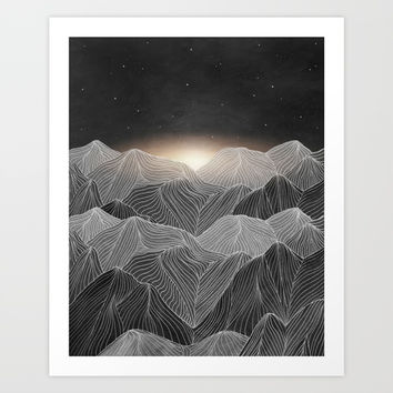 Lines in the mountains XIX Art Print by Viviana Gonzalez