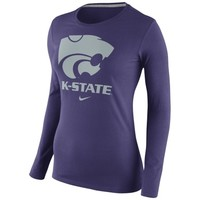 Nike Kansas State Wildcats Womens Purple Logo Long Sleeve T-Shirt