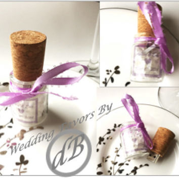 25 Count-Wedding Favor Message in  Bottle Cork Flash Drives! 4GB, load your media, flash drive personalized with your colors and your photo.