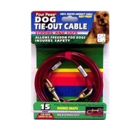 Four Paws Medium Weight Dog Tie-Out Cable 15 ft