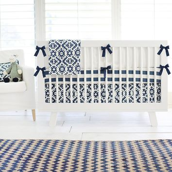 Arizona Aztec Navy Baby Bedding Set