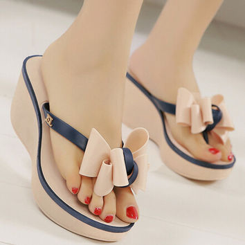 Summer Ladies Multi Candy Color Melissa Jelly Plastic Shoes Tassel Fringe T Strap Female Sandals Platform Wedge High Heels 2014