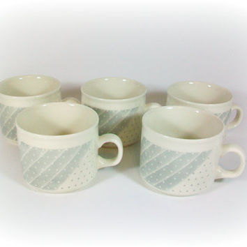 Polka Dot Mugs Coffee Mug Cup Set Churchill Gray Shades Mug Set