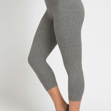 Lysse Capri Cotton Leggings - Salt and Pepper