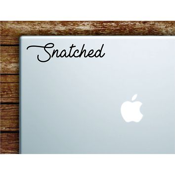 Snatched Laptop Wall Decal Sticker Vinyl Art Quote Macbook Apple Decor Car Window Truck Teen Inspirational Girls Make Up Beauty Brows Lashes