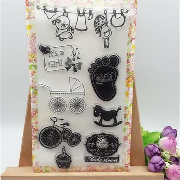 Baby Tools For Shower Heart Transparent Clear Stamp DIY Silicone Seals Scrapbooking/Card Making/Photo Album Decoration Crafts