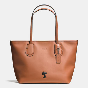 Coach X Peanuts Taxi Tote in Leather