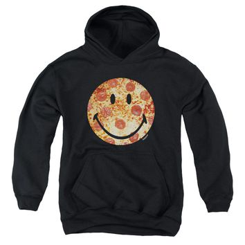 Smiley World - Pizza Face Youth Pull Over Hoodie