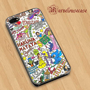 Disney Collage Art custom case for all phone case