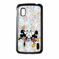 Mickey Kiss Minnie Disney Flowers Nexus 4 Case