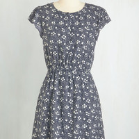 ModCloth Mid-length Cap Sleeves A-line Blissful Day Dress