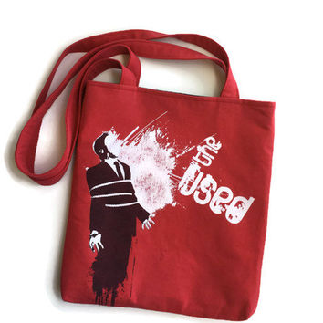 The Used Bag Upcycled Tshirt Tote Bag The Used Band Bag