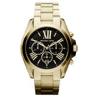 Michael Kors MK5739 Women's Black Dial Gold Plated Steel Bracelet Chronograph Watch