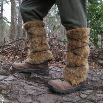 Viking Fur Leggings / Boot Covers, Dwarves, Barbarian, Medieval, Renaissance Costume Accessory - Faux Fur CHOOSE YOUR COLOR!