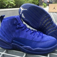 "Air Jordan 12 ""Deep Royal Blue"" AJ 12 Retro Men Basketball Shoes"