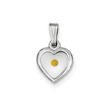 Sterling Silver Small Heart with Mustard Seed Pendant