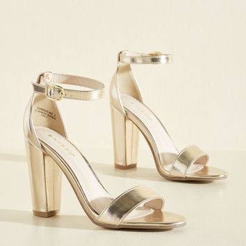Posh the Competition Metallic Heel