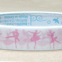 Pink Ballet dancer silhouette Deco Tape Adhesive Stickers DT337