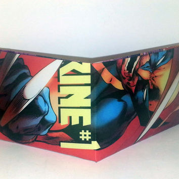 Comic Book Wallet// Wolverine