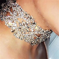 Hot sell sexy accessories water diamond choker fashionable woman necklace